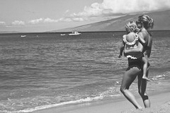 mother&daughter (kay la la) Tags: ocean family vacation mountains beach beautiful canon 50mm hawaii boat waves view maui lanai kaanapali xti