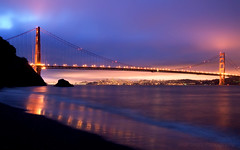 Early Morning, Kirby Cove (Matt Granz Photography) Tags: ocean city morning bridge wall clouds sunrise paper photography lights golden bay kirby nikon gate san francisco post pacific cove card shore daybreak sfist d90 mattgranz