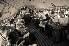 On the fly (Thiago Marra) Tags: fab portrait people monochrome sepia airplane floor candid flight return government xingu airforce onboard altamira pdrs pdrsx