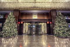 Georgian Christmas (Basedigital Images (Away...)) Tags: christmas canada tree clock vancouver canon bc mark entrance lobby ii 5d christmastrees hdr highdynamicrange hdri 1740mml highdynamicrangeimaging 5dmarkii basedigital rosewoodhotelgeorgia davidbrookfield
