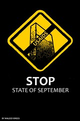 stop state of septemper (waleed idrees) Tags: poster palestine september waleed  idrees
