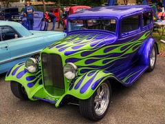1932 Ford Tudor (54 Ford Customline) Tags: cars 1932 flames chrome classics autos hdr v8 hotrods customs 32ford flamed doncastereast kustomkulture fordhotrod leadsleds 1932fordhotrod 32fordtudor 1932fordtudor rodkustompileup