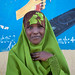Cute Black Young Veiled Woman Portrait Somaliland