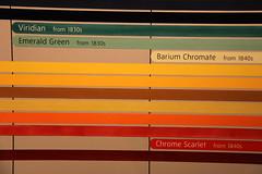 Fr arkivet (dese) Tags: england london museum scarlet photo colours foto tate chrome gb turner emerald december2 palette tatebritain 2010 viridian barium dese chromate jmwturner fargar desefoto barebarium
