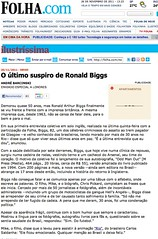 Folha de Sao Paulo (Ronnie Biggs The Album) Tags: ronnie biggs greattrainrobbery oddmanout ronniebiggs ronaldbiggs