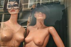plastic boobs (★silviacafarelli★) Tags: mannequin dutch amsterdam female vintage reflections olandesi vetrina showcase riflessi false manichini falso femminile