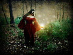 Witchcraft (Femininelure) Tags: selfportrait woods mask magic witchcraft spells
