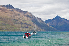 Boats and blue hues (Kalabird) Tags: new zealand southisland otago queenstown lakewakitipu azureblue