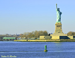 Another Beautiful Photo Of American Historical Meaning To American Independence And Freedom (nrhodesphotos(the_eye_of_the_moment)) Tags: nyc trees metal dock waterfront landmark structure historical statueofliberty bouy nyharbor omot nrhodesphotosyahoocom wwwflickrcomphotostheeyeofthemoment dsc47091nhr bedsloeisland