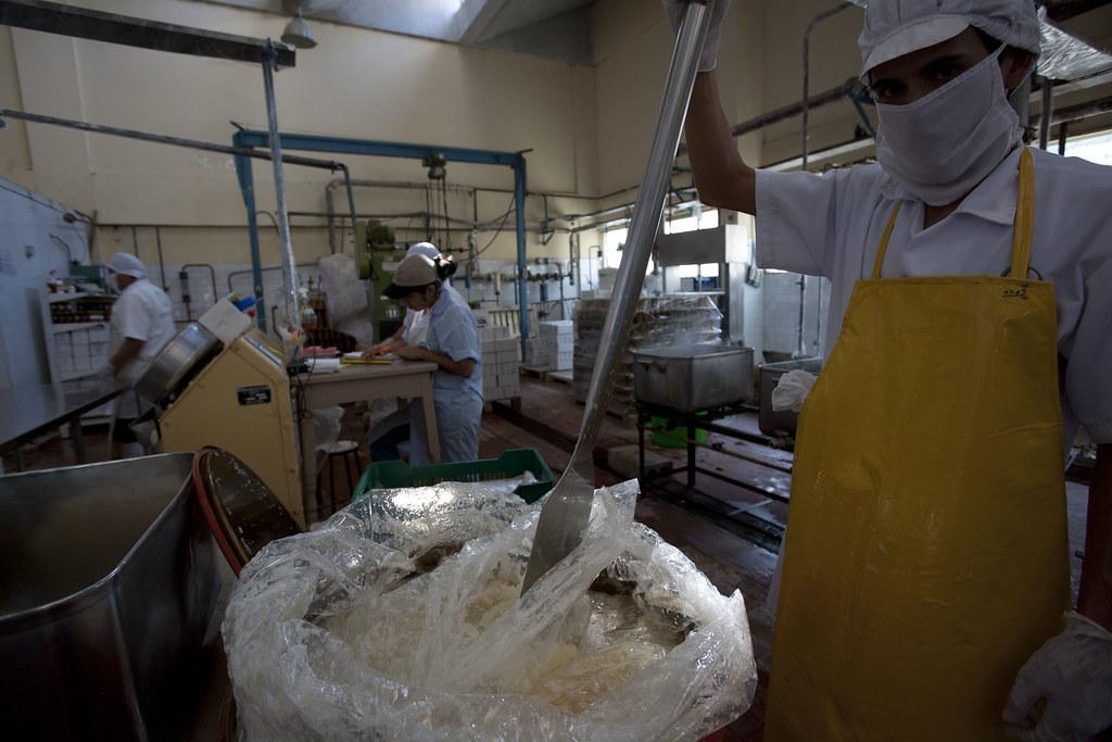 Fabrique confiture CEPICAFE - Preparation des ingredients congeles
