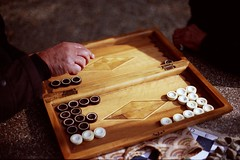 The retirement business (futile81) Tags: park men film 35mm canon iran sunny retired esfahan eos5 backgammon takhteh