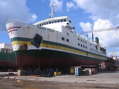 Maria Xenia (ed sy) Tags: ferry maria xenia shipping drydock montenegro msli