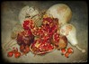 Pomegranate Portrayed (Passion4Nature) Tags: autumn red stilllife texture gourds pomegranate seeds ie rosehips memoriesbook tatot magicuniverse magicunicornverybest magicunicornmasterpiece textureinfinitebook magicuniversemasterpiece