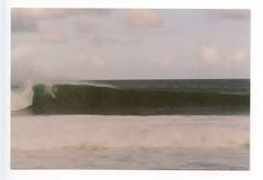Pipe #1. (myamericana.us) Tags: slr film beach clouds analog 35mm canon hawaii nw surf tube pipe barrel shoreline surfing f1 northshore gnarly surfers crown vans fl masters billabong 35 swell triple pipeline whitewash 135mm ehukaibeachpark 2011