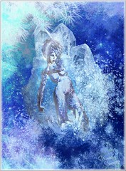 Frozen (~Yasmina Siamendes~) Tags: blue schnee winter light woman snow abstract cold art texture ice girl digital photoshop work germany weihnachten stars favoriten snowflakes frozen colours arte kunst digitalart award manipulation fave textures digitalpainting fantasy freeze views fantasia brushes favourites faves invierno deviant ingles blau wintertime luebeck lbeck kalt eis bunt figur particles pintar abstrakt espaol fantasie gefrohren zeichnen schneeflocken einfrieren erfrohren yasminasiamendes