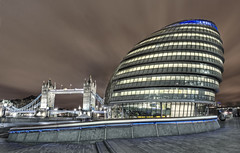 City hall and Tower Bridge London Explore #119 (odin's_raven) Tags: city bridge london tower night hall office shot hdr mayors assembly