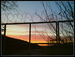 winterglow_X6 (Ian's Art....) Tags: cameraphone sunset silhouette rural fence downs nokia saturated outdoor colourful x6 wintercolour iansart