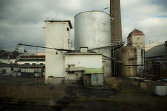 Industrial plant in Czech Republic, Europe, viewed from the train. (jackie weisberg) Tags: travel plants plant industry train europe industrial niceshot view eu czechrepublic easteuropean jackieweisberg flickrstruereflection1