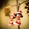Happy holidays to all! (PhotobyVéro) Tags: christmas france tree girl rouge europe hand little hiver decoration made fête noël blanc sapin lutin personnage faitmain handmadebycalikro