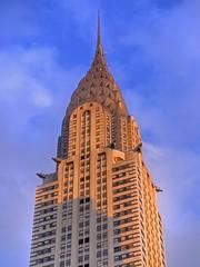 Chrysler Sunset (P1030787_88_89_90_91_tonemapped) (Michael.Lee.Pics.NYC) Tags: street sunset newyork building art skyscraper chrysler deco hdr 42nd photomatix