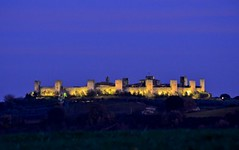 Medieval wonders of Europe - Monteriggioni, Tuscany (Sir Francis Canker Photography ) Tags: travel italien italy castle tourism beautiful amazing twilight italia dusk icon medieval illuminated tuscany castelo walls mura toscana chateau visiting monteriggioni castello kale medievale muralla  castillo italie burg muraille zamek       landsmark