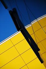 City Beach (pierre bdat) Tags: blue reflection building lines yellow wall jaune diagonal bleu mur lignes archi obliquemind obliquamente