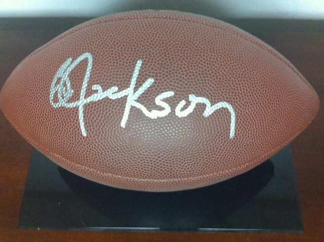 Heisman Trophy Winner Bo Jackson Autograph Football