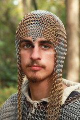 Knight in Chainmail (wyojones) Tags: usa eye look leather festival beard texas fierce expression trf greeneyes knight warrior faire mean mustache fest armour renaissance renfest chainmail texasrenaissancefestival toddmission wyojones