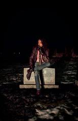 Winter in Charleston Cemetery. (jonathan_brandt) Tags: winter portrait selfportrait cemetery graveyard leather fashion self vintage pose hair shoes michigan headstone january tie charleston jacket vignette dior 2012 2011