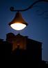 luce sulla chiesa di Santa Maria Assunta (ROSSANA76 Getty Images Contributor) Tags: santa roma arte blu maria chiesa cielo montagna antico notte architettura luce fede lazio lampione monti buio storia paese assunta simbruini cittadina