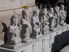 Seven Deities of Good Luck (kasa51) Tags: sculpture statue japan digital temple lumix shrine panasonic yokohama f18 olympuspen 45mm     gf1     mzuiko
