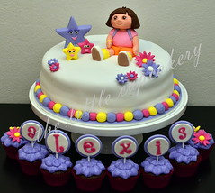 Dora the Explorer cake (TheLittleCupcakery) Tags: little explorer dora superheroes tlc cupcakery klairescupcakes