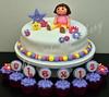 Dora the Explorer cake (Klaire with a Cake) Tags: little explorer dora superheroes tlc cupcakery klairescupcakes