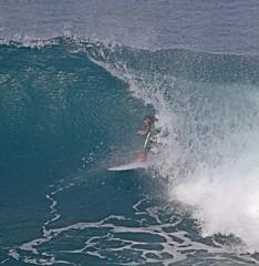 in the mouth (bluewavechris) Tags: ocean winter sea water fun hawaii surf ride action surfer board tube barrel wave maui spray foam surfboard thebay swell honoluabay honolua