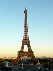 Eiffel Tower (am_hc) Tags: blue sunset sky paris france tower tourism europe eiffel mygearandme