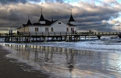 Usedom - Seabridge Ahlbeck - In bad weather (Pana53) Tags: beach balticsea ostsee usedom seabridge seebrcke seabase ahlbeck seebad schlechteswetter seebadahlbeck pana53 inbadweather