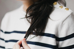 3/52 - Navy (AndreaDrops) Tags: film canon vintage 50mm stripes navy striped filmy 500d lilyallen goldenbuttons t1i
