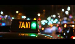 Big City Nights (Seracat) Tags: barcelona street city urban night lights bokeh taxi bcn nocturna catalunya nocturne streephotography seracat mygearandme