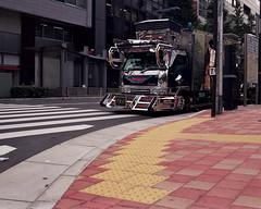 Japanese Diesel (J-diggity-dogg) Tags: 120 mamiya film japan truck mediumformat photography tokyo shinjuku diesel rangefinder semi asphalt artcar filmphotography mamiya7 japanesetechnology arttruck japanesetruck joshdouglas kodakvc160 fuckdigital joshdouglasphotography robottruck spaceshiptruck japanesesemitruck shinjukuridiculousness