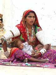 Seller with baby (Shreeram Ghaisas) Tags: birds kutch dasada rann littlerann gujarath