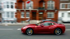 Different shade of red (BenGPhotos) Tags: california red london car dark convertible ferrari panning supercar v8 spotting 2012