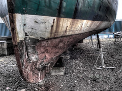 float my boat! (peters2011) Tags: old red sea white colour green texture boat paint hdr gravel