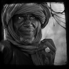 Touareg from Oursi (marsoyann) Tags: africa portrait bw texture square touareg burkina afrique oursi