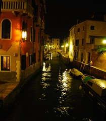 Venice - Nightfall on a Venetian Canal