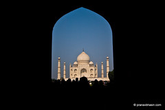Taj Mahal Through Entry Gate