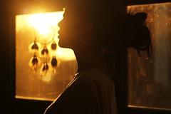 four. (dimplyemily) Tags: light window girl silhouette goldenhour dreamcatcher
