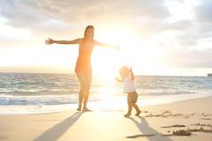sunset dance (*michael sweet*) Tags: boy sunset beach fun hawaii child mother maui