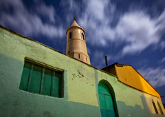 Al-Jami mosque in Harar nightshot with 30 seconds exposure - Ethiopia (Eric Lafforgue) Tags: longexposure minaret islam religion mosque mosquee tribo thiopien etiopia ethiopie etiopa 7379  etiopija ethiopi  etiopien etipia  etiyopya