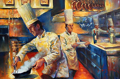 Culinary Excellence (Exclusive Collections Gallery) Tags: christopherm painterofchefs originalart oilpainting artist art fineart culinary wine food foodie chefs ecgallery exclusivecollections sandiego artshow