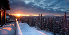 are sweden morning view (jferron86) Tags: morning winter sun cold nature landscape snowboarding glow skiing sweden balcony north freeze scandinavia zweden re